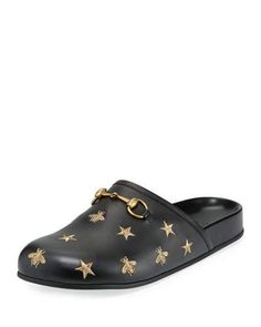 c818c31594b Gucci Horsebit Embroidered Leather Slipper Gucci Clothing
