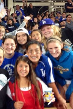 Sumi with her friends at Rose Bowl Water Polo Dodger night