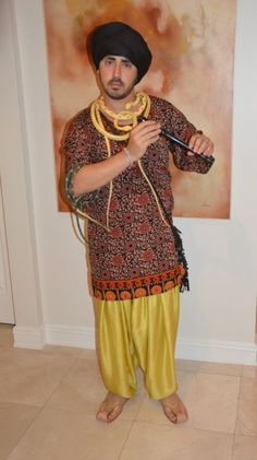 No Sew} Snake Charmer Costume, How to | Diy costumes, Free time ...