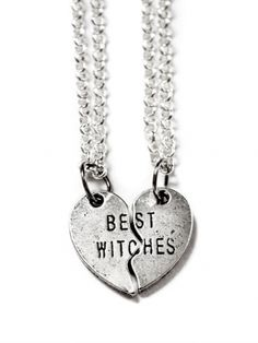 """""""Best Witches Heart"""" Necklaces by Couture By Lolita (Silver)"""