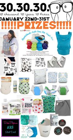 All my friends go to Dirty Diaper Laundry and enter this awesome giveaway! http://dirtydiaperlaundry.com/enter-to-win-the-30-30-30-giveaway-with-30-prizes-11-winners/