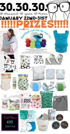 Huge Cloth Diaper/Baby Wearing Giveaway