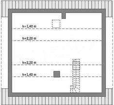 Rzut poddasza projektu Murator C333j Miarodajny - wariant X Small House Design, Home Design Plans, Floor Plans, How To Plan, Decoration, Plants, House, Decor, Design For Small House