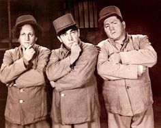 """The Three Stooges were an American vaudeville and comedy act. Commonly known by their first names """"Moe, Larry, and Curly"""". Larry Fine, Moe Howard, (and brother) Curly Howard. The Three Stooges, The Stooges, Comedy Acts, Classic Comedies, Laurel And Hardy, Old Shows, Old Tv, Classic Tv, Famous Faces"""