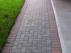 sidewalk pathway images | Example of just one pattern you can choose when choosing brick ...