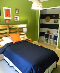 Green Bedroom For Boys cool boys room! using metal, wood, rope and pipe you can create