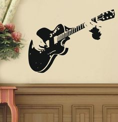 Your place to buy and sell all things handmade Art Guitar Guitarist Music—-art Graphic Vinyl wall decals stickers home decor 3d Wall Art, Wall Art Sets, Vinyl Wall Decals, Canvas Wall Art, Music Artwork, Music Wall, Music Music, Music Decor, Art Decor