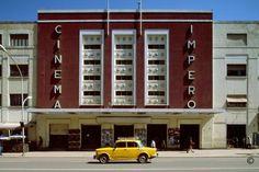 The fascist-built Cinema Impero (Empire Cinema) in Asmara, Eritrea. Photo Edward Denison.