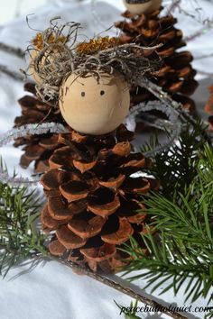 pinecone angel tutorial for kids