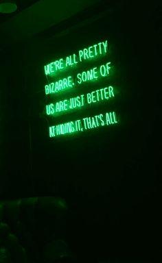 Bizarre | Green | Neon | Aesthetic