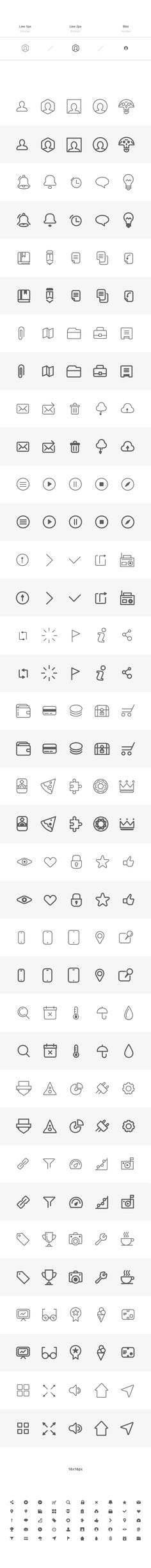 230 Wireframe Icons | GraphicBurger