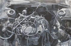 Engine #2, 2012, Acrylic ink on paper