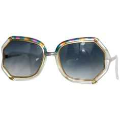 589b8bcf08 1970s Ted Lapidus Rainbow Frame Sunglasses  amp  Shades 1 Gold Sunglasses