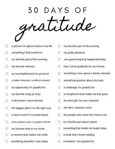30 Days of Gratitude: Journal Prompts to Get You Started Gratitude Quotes Thankful, Gratitude Tattoo, Gratitude Ideas, Words Of Gratitude, Gratitude Jar, Grateful Quotes, Gratitude Journal Prompts, Bullet Journal Prompts, Bellet Journal