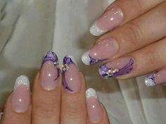 French manicure with funky touch