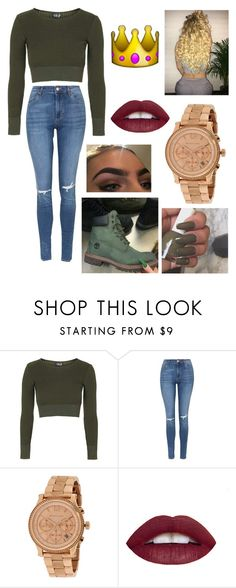 """' slay "" by fashion-1407 ❤ liked on Polyvore featuring Topshop and Michael Kors"