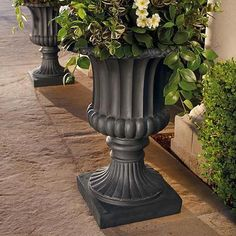 Classical Tuscany Indoor/Outdoor Urn Paint outdoor urns this color Pedestal, Tableaux Vivants, Tuscany Decor, Urn Planters, Porch Planter, Plastic Planters, Tiered Planter, Outdoor Planters, Zen
