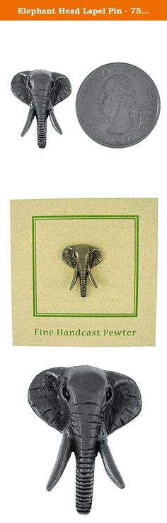 Elephant Head Lapel Pin - 75 Count. The elephant is the largest animal that lives on land. Some male elephants can grow to be thirteen feet tall. That's more than twice as tall as many human adults. Handcast in solid, lead-free pewter, each of our pins is an original three dimensional sculpture signed by the artist, Jim Clift. Individually packaged on one of our signature presentation cards, our pins arrive ready for gift giving! Handcrafted in our studio in Coventry, RI, our pins are…