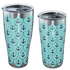 29a7694a653 image of Tervis® Great Outdoors Anchor Scallop Tumbler with Lid in  Stainless Steel Tervis Tumbler