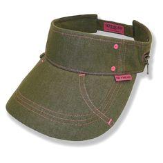 bb9044db5dc Hothead Large Brim Sun Visor Hat - Denim in Olive - CL11D0VXOWJ