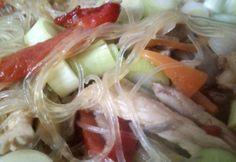 Üvegtészta csirkével és zöldségekkel Wok, Shrimp, Paleo, Beach Wrap, Paleo Food