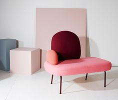 Structure: Norwegian Contemporary Crafts and Design - Between sofa by Sara Wright Polmar of Oslo Contemporary Furniture, Luxury Furniture, Home Furniture, Furniture Design, Pastel Furniture, Contemporary Office, Office Furniture, Milan Design, Design Trends