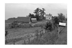 'Sharecropper Farm' Print (Unframed Paper Poster Giclee 20x29), Black