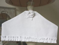 Clothes Hanger cover  pure white rose by GreenHouseGallery on Etsy, $11.00