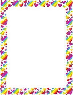 Rainbow Heart Border
