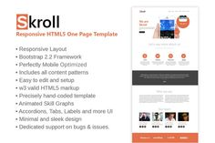 Check out SKROLL - Responsive HTML5 Template by designovastudio on Creative Market