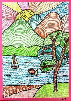 Pin di maryanne doohan su school sanat çizimleri, sanat fikirler e sanat Drawing Lessons For Kids, Art Drawings For Kids, Art For Kids, 4th Grade Art, Art Lessons Elementary, Elements Of Art, Art Classroom, Grafik Design, Art Club