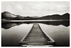 Stretched Canvas Print: Emigrant Lake Dock I in Black and White Canvas Print by Shane Settle : Lake Dock, Boat Dock, Jon Boat, Plywood Boat Plans, Fishing Photography, Black And White Posters, Cool Posters, White Art, White Photography