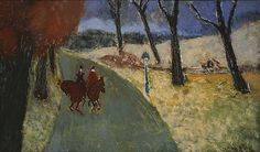 MILTON AVERY (1885–1965). Winter Riders, 1929, Oil on canvas, 18 x 30 in. The Phillips Collection, Washington.