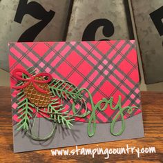 Pretty Pines Stampin' Up! Christmas Card