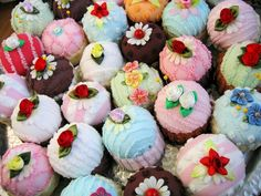 GORGEOUS!  PINCUSHIONS made from old CHENILLE BEDSPREADS!