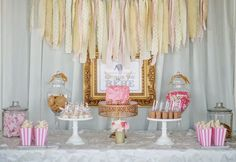 Fawn Over Baby: Pink & Gold Circus Themed Baby Shower By Sweet Events