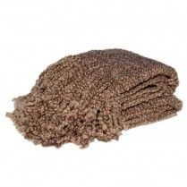 Campbell Latte Throw Blanket