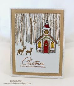Created By Leanne: Holiday Card Workshop 2014 Day 6!