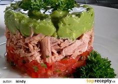 Salát z avokáda, tuňáka a rajčat Lchf, Mozzarella, Guacamole, Cabbage, Toast, Mexican, Vegetables, Ethnic Recipes, Molde