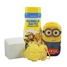 Despicable Me 3 Bath Time Friends Gift Set Hard To Find! Banana Scented