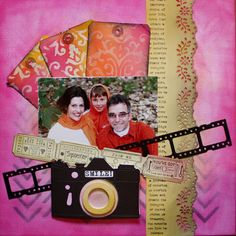 Bella's Scrappin' Space: Creating all my own paper and embellies with Tim Holtz stash