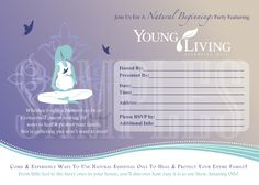 Printable Young Living Party Invitation - Natural Beginnings with Young Living Essential Oils. $5.00, via Etsy.