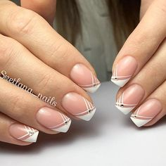 21 Cool and Trendy French Manicure Ideas & Starling Rhinestones Designs picture 1 & are numerous French manicure ideas out there, and if you try to pull all of them off, it will take you several years. You would better start now! French Nails, New French Manicure, French Manicure Designs, Pedicure Designs, Diy Nail Designs, Nails Design, French Pedicure, Manicure Colors, Manicure And Pedicure