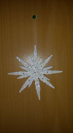Snowflake Craft Snowflake Craft Clothes pin crafts Creative Decorating DIY Can Make With Snowflake Craft, Snowflake Ornaments, Handmade Ornaments, Diy Christmas Ornaments, Homemade Christmas, Christmas Projects, Kids Christmas, Holiday Crafts, Christmas Decorations