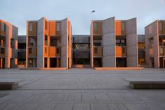 The Getty Conservation Institute and architects Wiss, Janney, Elstner Associates, Inc. have completed restoration work on the teak window walls of Louis Kahn's Salk Institute complex | Courtesy Elizabeth Daniels