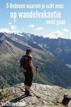 5 Redenen waarom je écht eens op wandelvakantie moet gaan! Een inspirerende lijst op we12travel.com!