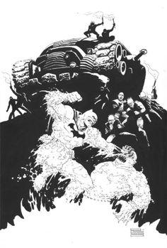 The Dark Knight Returns: Batman vs The Mutants by Eduardo Risso