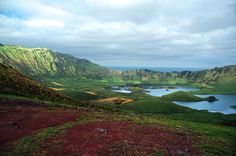Corvo Island, Azores, Portugal Azores, Vivo, Portugal, Europe, Island, Mountains, Places, Water, Travel
