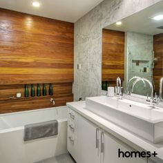 Home Design, Interiors, Outdoor, Renovation Ideas and Inspiration, These ten homes have shown how Californian bungalows are perfectly suited to the modern Australian lifestyle. Contemporary Style Homes, Marble Tiles, Bath Tub, House And Home Magazine, Interior Inspiration, Bungalow, Sink, Kitchen Cabinets, Vanity