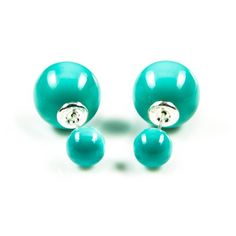 """Karma Earrings - Double Dots - Turquoise Pearl """"What goes around comes around."""" That's what Karma is all about. Karma Jewelry is very nice to see and easy to combine with your other jewelry. BoumanOnline.com"""